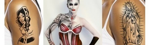 AIRBRUSH TATTOO I BODYPAINTING